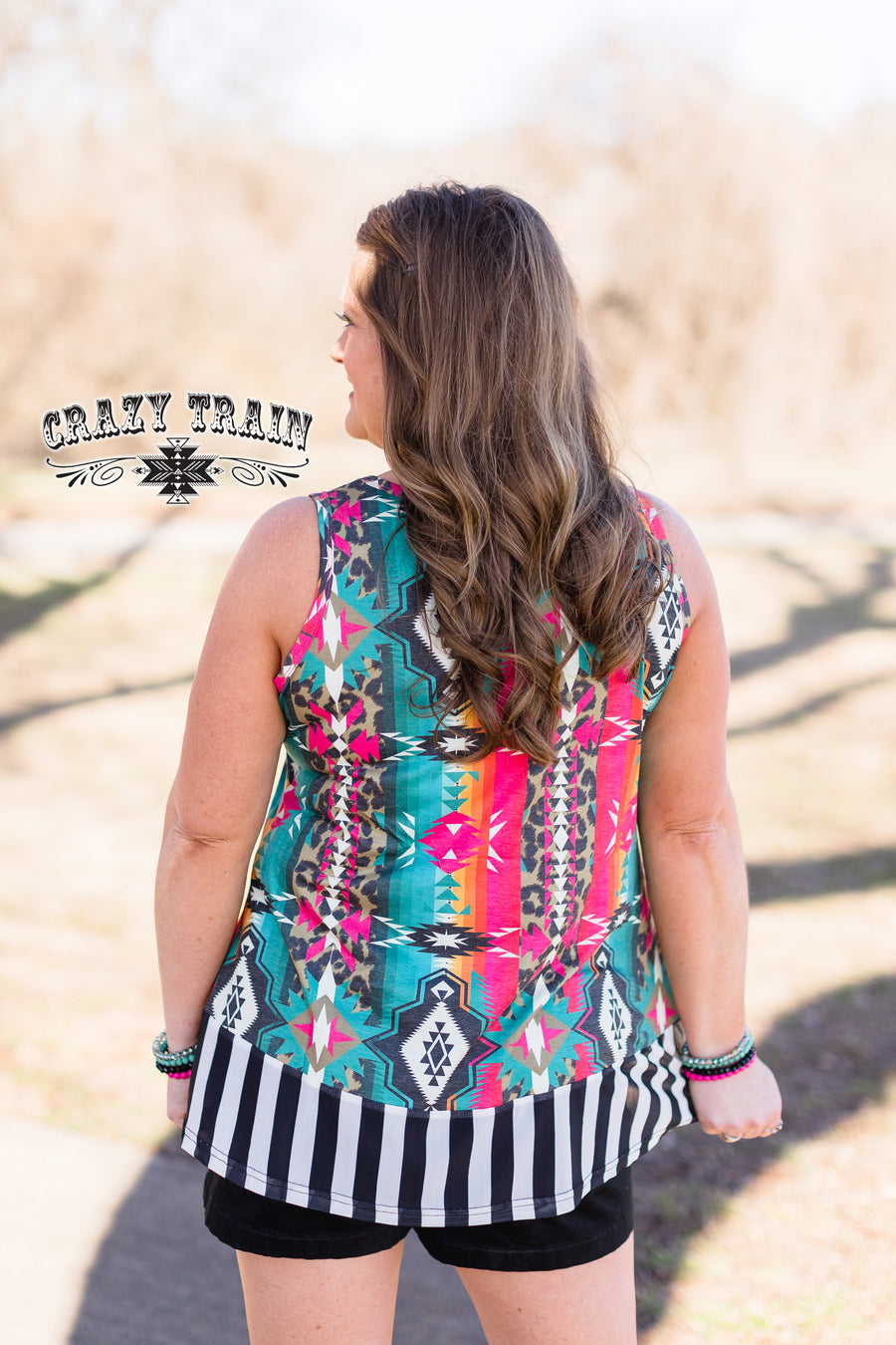 Gingham Gal Aztec Tank Top