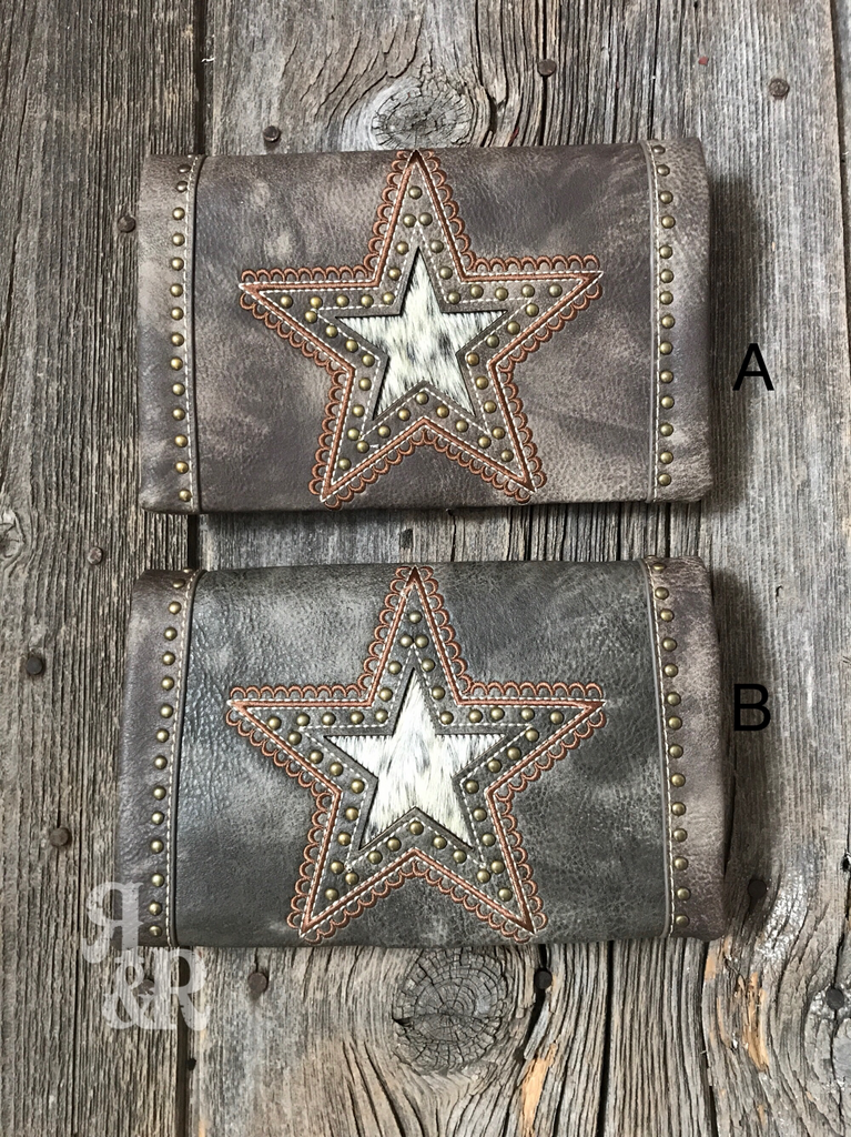 Cowhide Star Cross Body Clutch - Ropes and Rhinestones