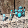 Double Stone Turquoise Ring