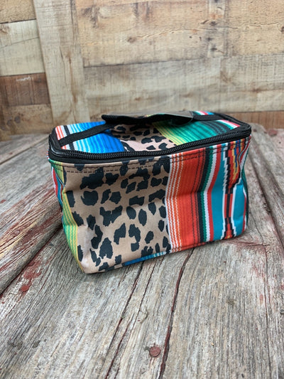 Serape Leopard Cosmetic Bag