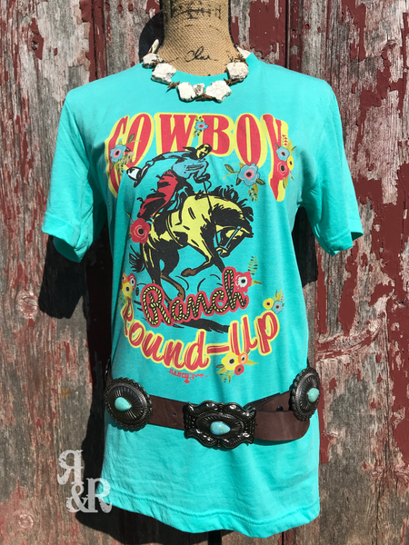 Cowboy Ranch Round Up Tee - Ropes and Rhinestones