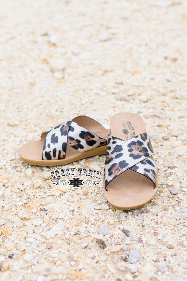 Wild Way Leopard Slide Sandals