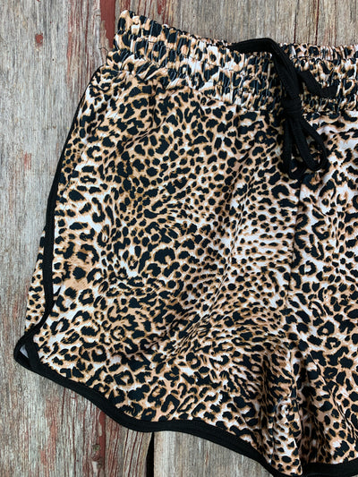Chic Cheetah Print Shorts
