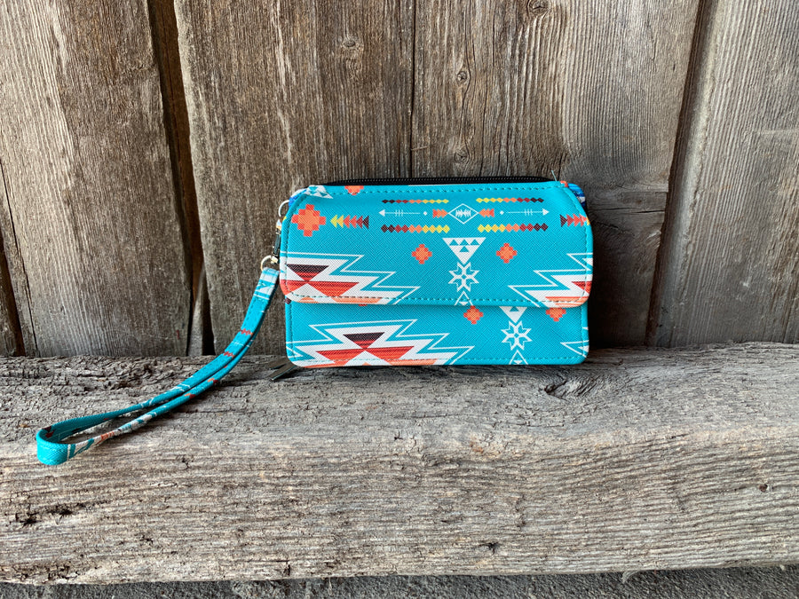 Southern Aztec & Serape All In One Wallet