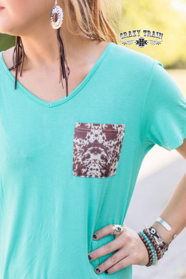 Handy Cowhide Pocket Knot Top