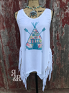 Wild and Free Fringe Tank Top