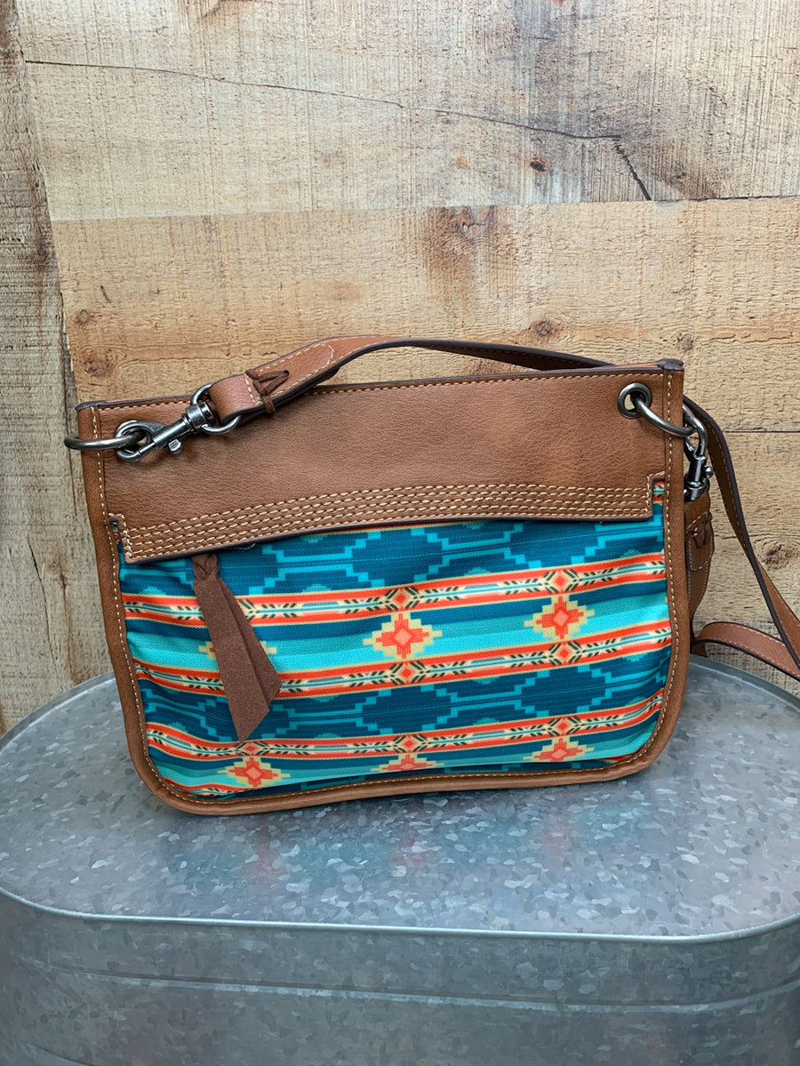 Aztec Turquoise Cross Body Purse