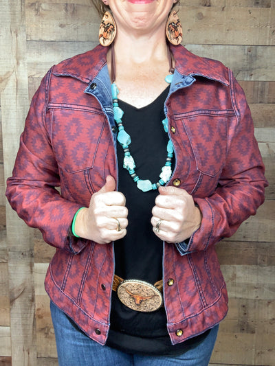 Reversible Denim & Aztec Jacket