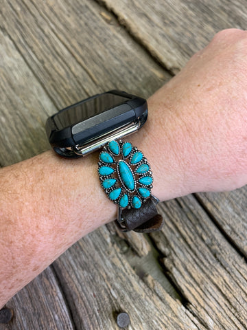 Turquoise Concho Apple Watch Band
