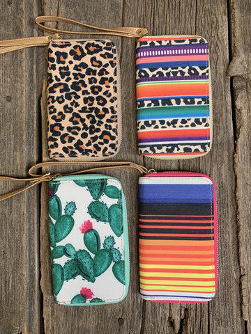 Cell Phone Wallet - Ropes and Rhinestones