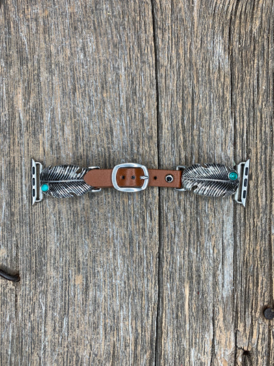 Feather Turquoise Apple Watch Band
