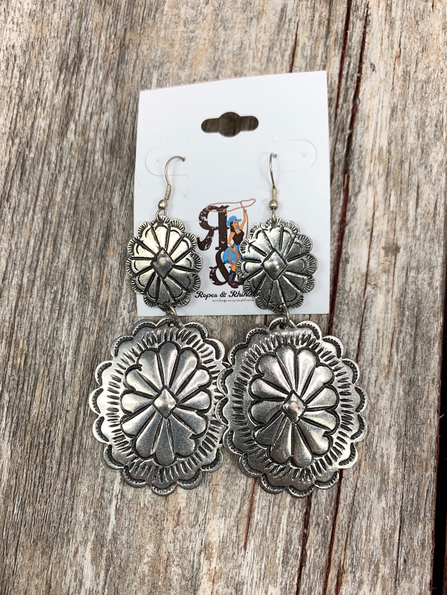 Double Day Concho Earrings