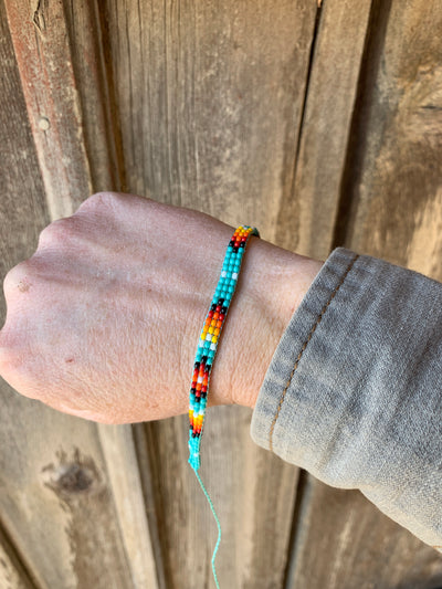 Beaded Bracelet - Ropes and Rhinestones