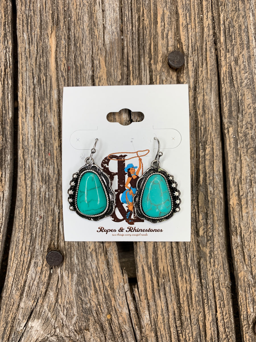 Cinco Spot Turquoise Earrings