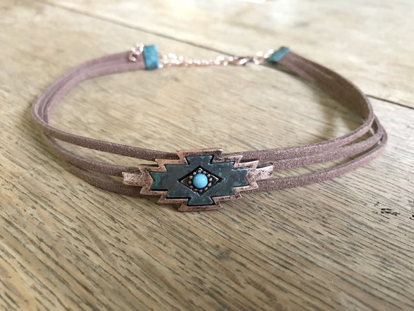 Aztec Choker - Ropes and Rhinestones