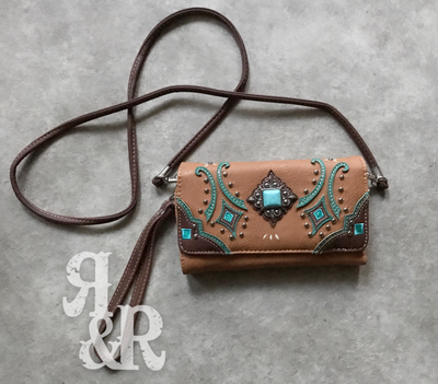 Turquoise Concho Clutch