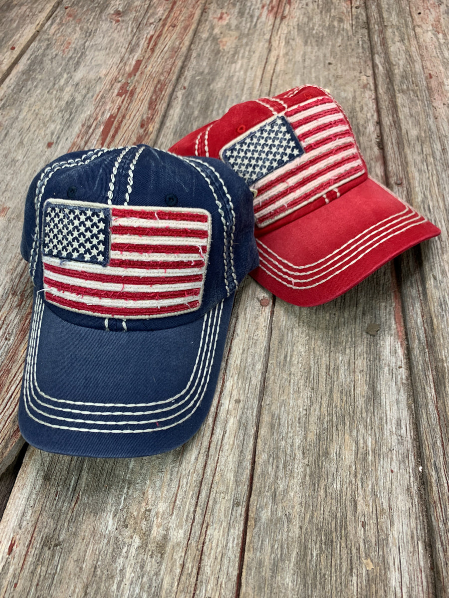 American Flag Patch Cap