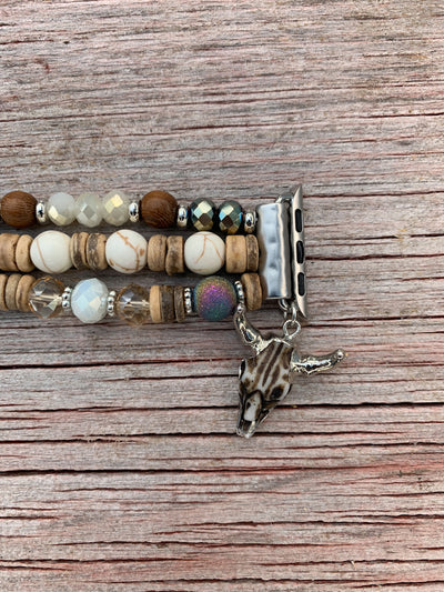 Stone & Cow Skull Charm Apple Watch Band