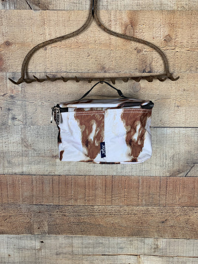 Cow Print Cosmetic Case