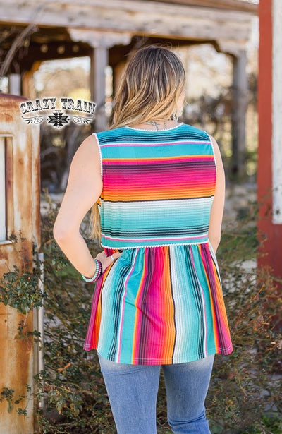 Taco Tuesday Serape Tank Top