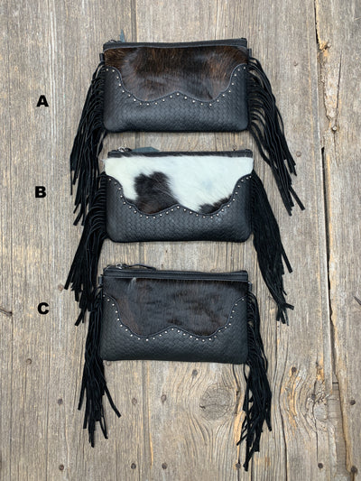 Cowhide & Fringe Fabulous Purse - Ropes and Rhinestones
