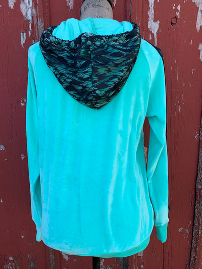 Lacey Lou Turquoise Hoodie
