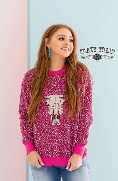 Hot Head Cow Skull Sweater