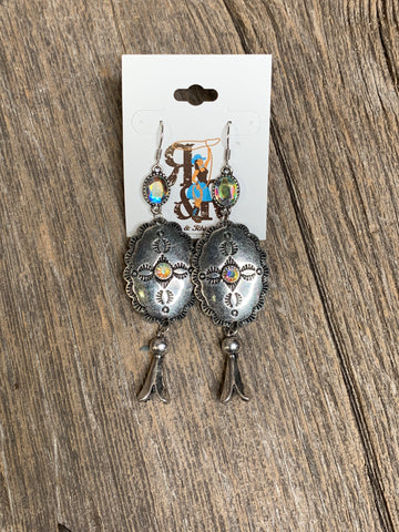 Single Squash Rhinestone Earrings