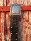 Studded Gator Print Belt