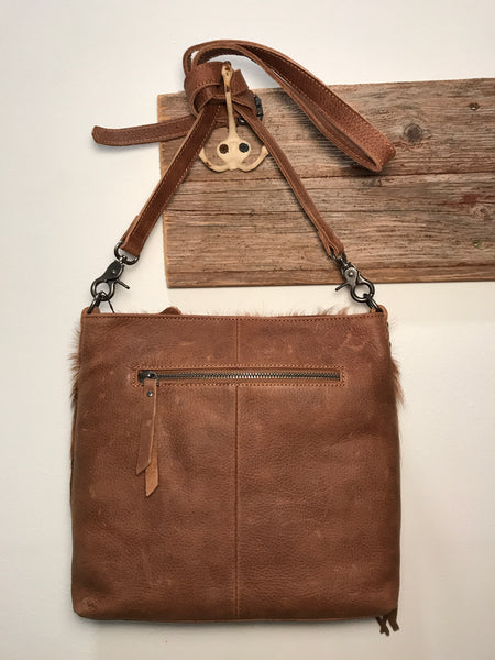 Big Time Cowhide Cross Body Purse
