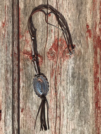 Concho Fringe Necklace - Ropes and Rhinestones