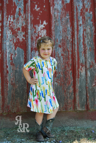 Cactus Kids Dress - Ropes and Rhinestones