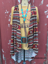 Aztec Shades of Fall Vest - Ropes and Rhinestones