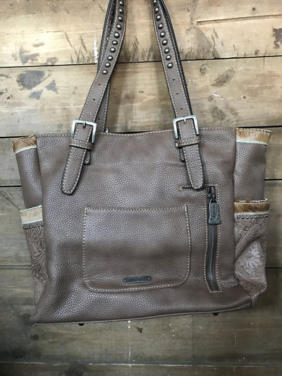 Cowhide Pocket Tote - Ropes and Rhinestones
