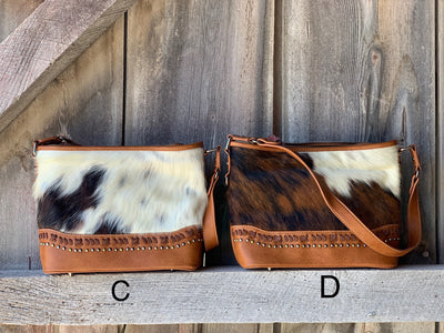 Cowhide Hobo Purse