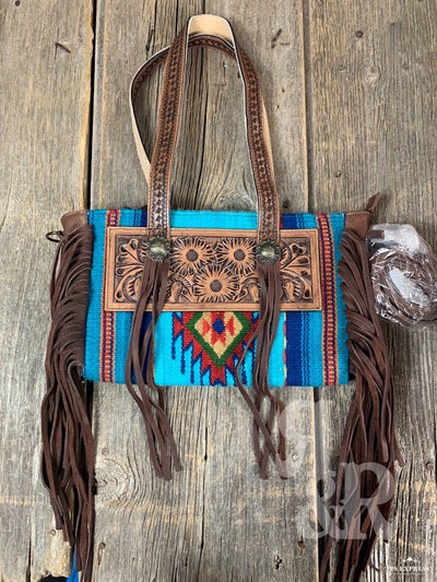Saddle Blanket Mini Fringe Tote Bag