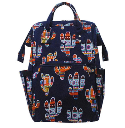 Colorful Cactus Travel/Diaper Bag Backpack