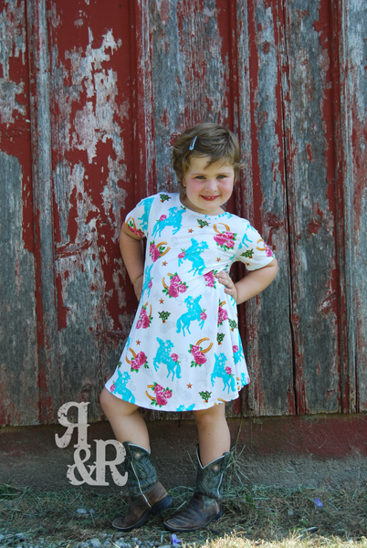 Ride Em Cowgirl Kids Dress