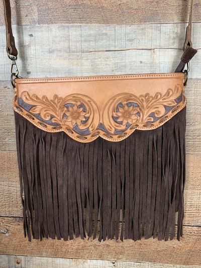 Buck Stitched Buckaroo Fringe Purse
