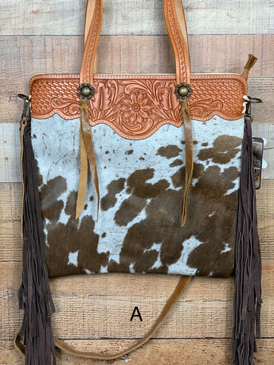 Boss Lady Cowhide & Fringe Bag
