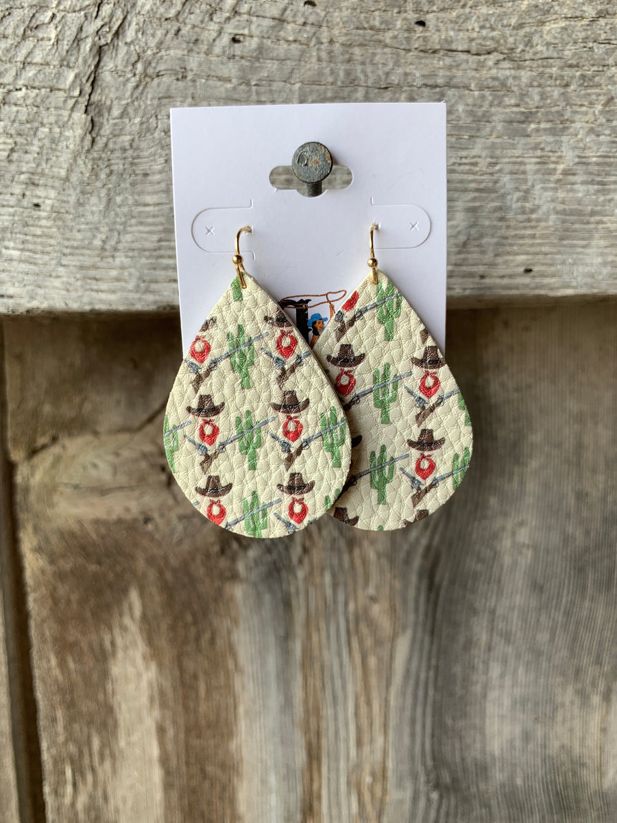 Cactus & Cowboy Hat Earrings