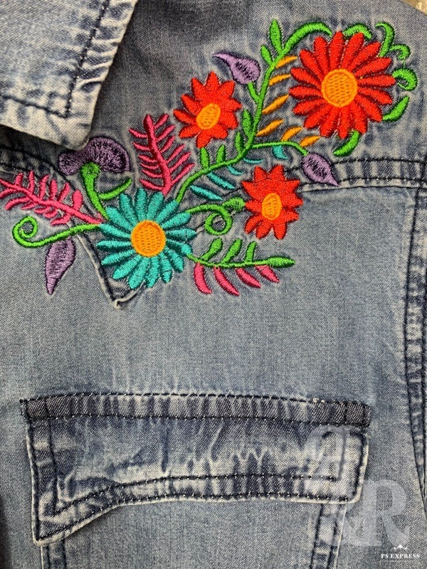 Santa Fe Embroidered Denim Shirt