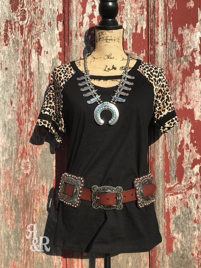 Leather Square Concho Belt