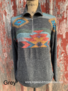 Aztec 3/4 zip Pullover - Ropes and Rhinestones