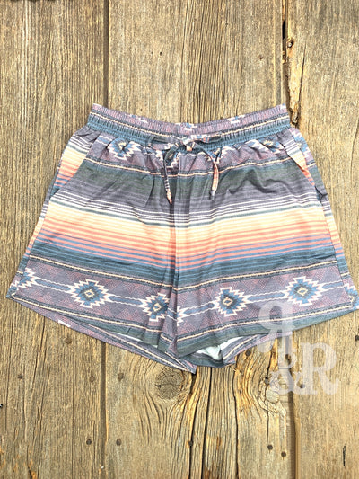Purple Serape Aztec Shorts