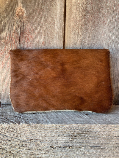 Headdress Cowhide Clutch