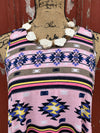 Aztec Pink Tunic/Dress - Ropes and Rhinestones