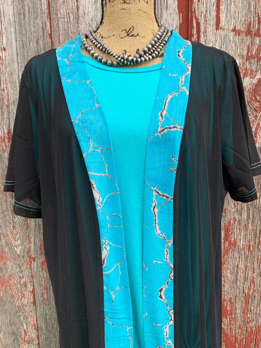 Native Dreams Turquoise Duster