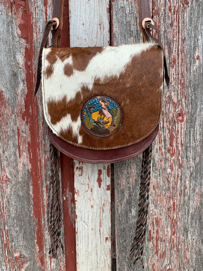 Cowgirl Bronc Cowhide Purse