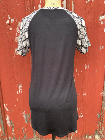 Snakeskin Pocket Top